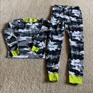 Boy's camouflage pajama set like new condition